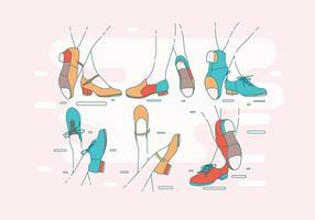 Tryck på skor för kvinnans vektor