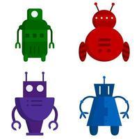 samling av olika robotar vektor