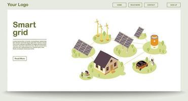 Öko-Energie-Webseite vektor