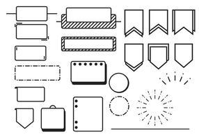 Bullet Journal-Vektoren vektor