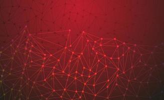 rotes Netzwerk und technologischer Hintergrund vektor
