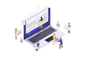 webbdesign och utveckling isometrisk vektor