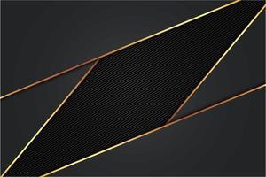 moderner schwarz-goldener metallischer Hintergrund vektor