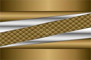 modern silver och guld metallisk bakgrund vektor