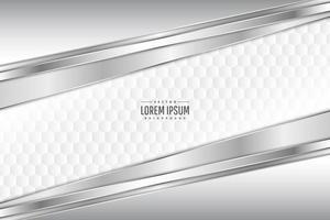 moderner silberner und weißer metallischer Hintergrund vektor
