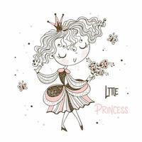 süße kleine Prinzessin im Doodle-Stil