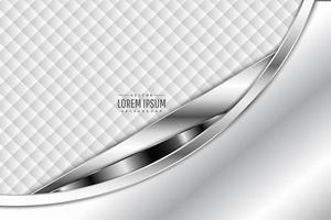 moderner weißer und silberner metallischer Hintergrund vektor