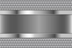 moderner silberner und grauer metallischer Hintergrund vektor