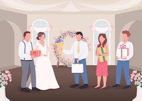 gåvor för bruden och brudgummen vektor