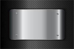 moderner silberner metallischer Hintergrund vektor