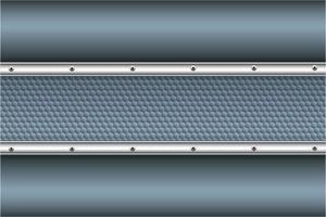 modern blå och silver metallisk bakgrund vektor