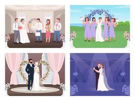 bröllopsfest platt vektor