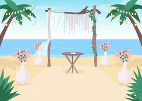 strand bröllop miljö vektor