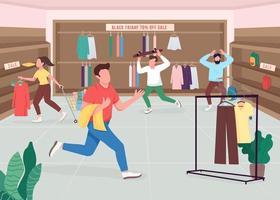Shopaholics am schwarzen Freitag vektor