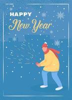 Gott nytt år gratulationskort vektor