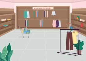 modebutik på svart fredag vektor