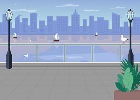 Böschung Stadt Skyline vektor