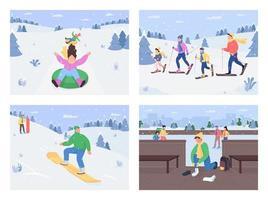 vinter roliga aktiviteter vektor