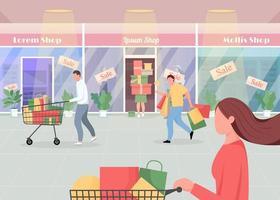 säsongsförsäljning i köpcentret