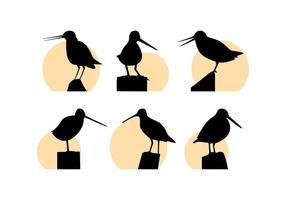 Kostenlose hervorragende Snipe Bird Vektoren