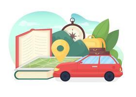 utbildning turism platt vektor