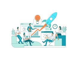 Startup-Team-Meeting vektor