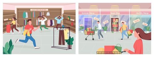 Einkaufen am schwarzen Freitag vektor