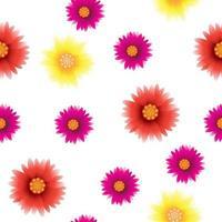 sömlösa mönster, vackra blommor vektor