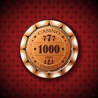 nominellt pokerchip, ett tusen vektor