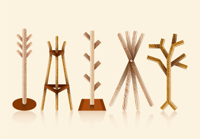 Coat Stand Vector Pack