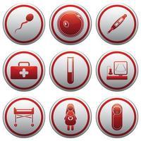 graviditet platt ikonuppsättning i grå cirklar