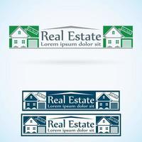 Immobilien Logo Design Vorlage Farbset.