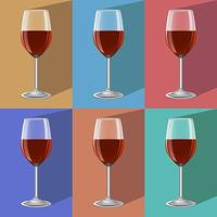glas vin på metallställ vektor