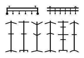Hangers och Coat Stand Vectors
