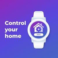 Smart Home App für Smartwatch vektor