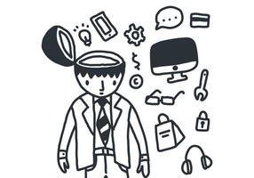Geschäftsmann mit Open Mind Vector