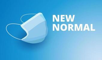 neue Normalität, Schutz vor Krankheitsplakat