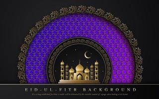 royal ramadan eid ul fitr design vektor