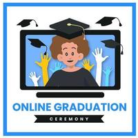 Online-Abschlussfeier Social Media Post Design
