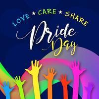 Happy Pride Day Social Media Post Design vektor