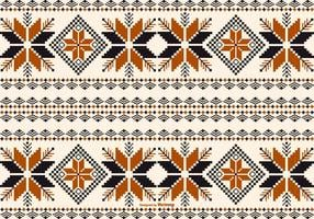 Dayak / Borneo Style Pattern Bakgrund vektor