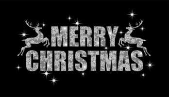 Frohe Weihnachten Zeichen mit Schneeflockenmuster vektor