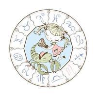 en barns zodiak. skorpionens stjärntecken vektor