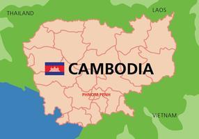 Kambodja Karta vektor