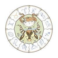 stjärntecken Oxen. barns horoskop vektor