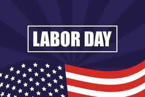 Happy Labour Day Feier mit USA Flagge vektor