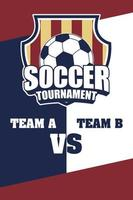 Fußball Fußball Sport Poster mit Schild Emblem vektor