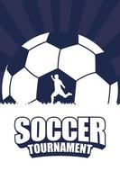 Fußball Fußball Sport Turnier Poster vektor