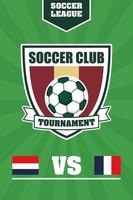fotboll fotboll sport affisch med sköld emblem vektor