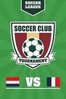 Fußball Fußball Sport Poster mit Schild Emblem